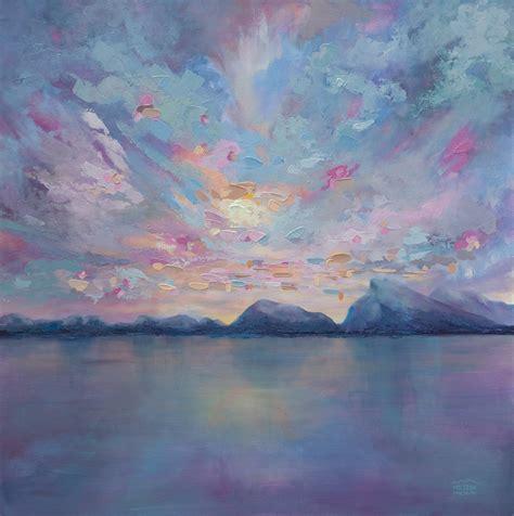acrylic painting a sky rundle sky 36 215 36 original acrylic landscape painting on