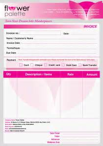 wedding flower proposal form template