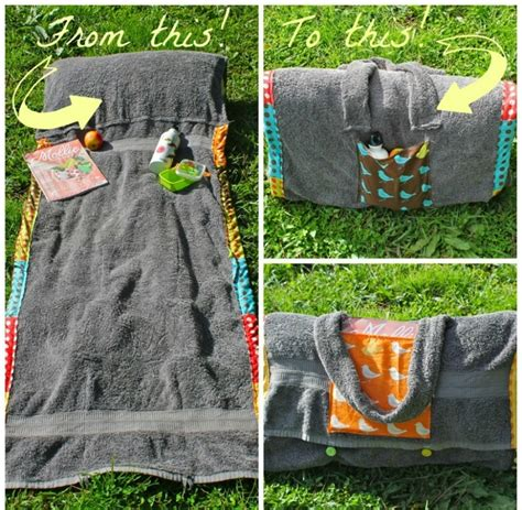 How To Make A Blanket Pillow by Diy Summer Project Bag Unwraps Into Towel Blanket