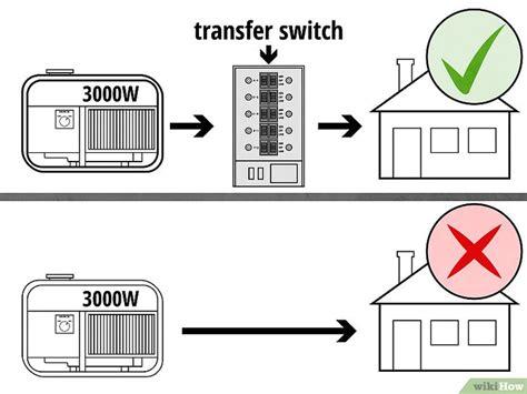 wiring a generator to your house einen tragbaren generator an ein haus anschlie 223 en wikihow
