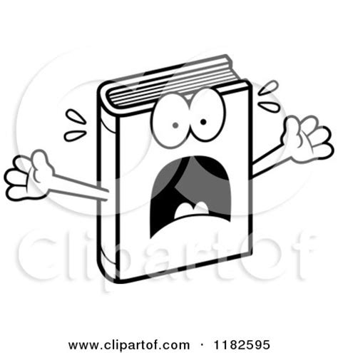 things black are scared to say books black and white scared book mascot royalty free vector