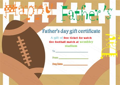 S Day Gift Card Template by Gift Certificate Templates