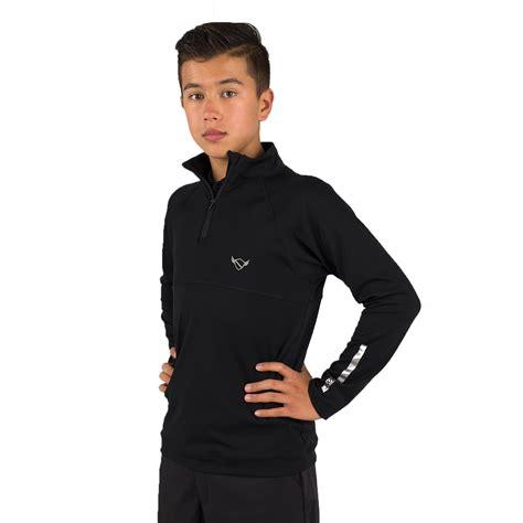Sweatee Boy Black black luke sweater swing junior golf apparel
