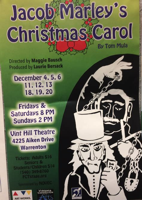 Calendã Fct Jacob Marley S Carol At Fct Fauquier Now