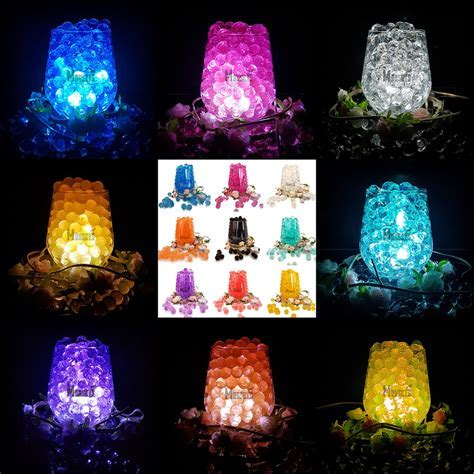 Wedding Party Table Top Vase Decoration LED Light With Bio