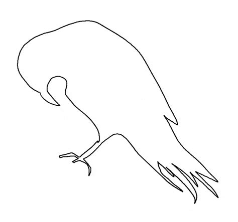 raven coloring page animals town animals color sheet
