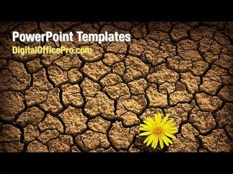 powerpoint themes soil dried soil powerpoint template backgrounds