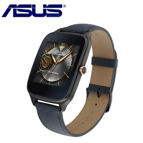 Asus Zenwatch 2 Wi501q Sparrow Leather Smartwatch Blue G asus zenwatch 2 sparrow wi501q 2lblu0023 leather