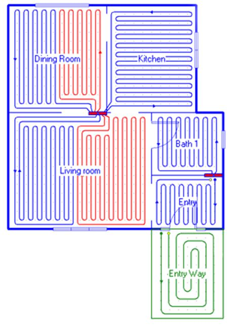 underfloor heating pipe layout design software right radiant cad quality radiant loop design layouts