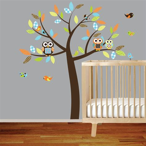 baby nursery tree wall decals with shelves