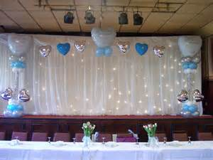 Christening Stage Decoration by Matthew Lewis Displays And Special Occasion Foils Award