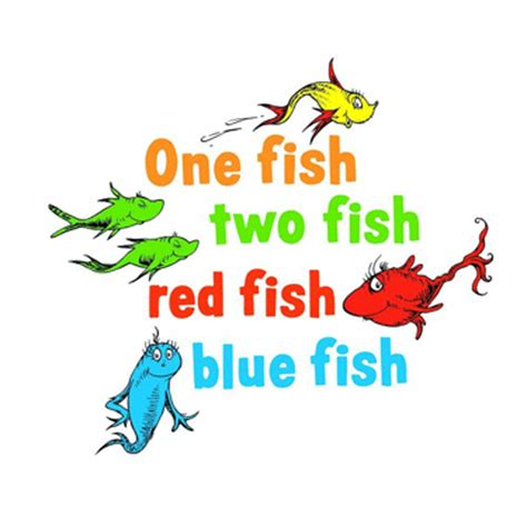 One Fish Two Fish One Fish Two Fish Fish Blue Fish Coloring Page