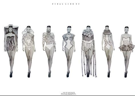 fashion illustration line up my fashion portfolio line up