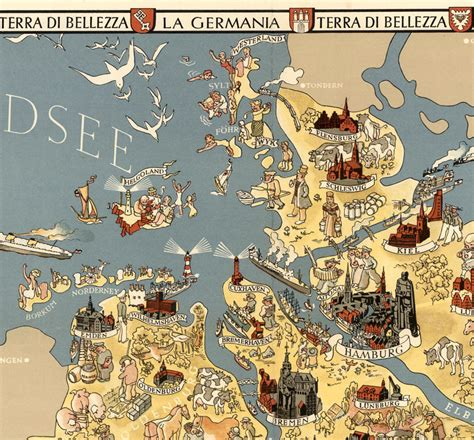 germany attractions map vintage map of germany tourism map 1941 maps and