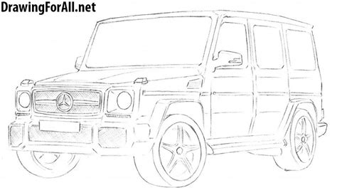 G Wagon Sketches by How To Draw Mercedes G Class Drawingforall Net