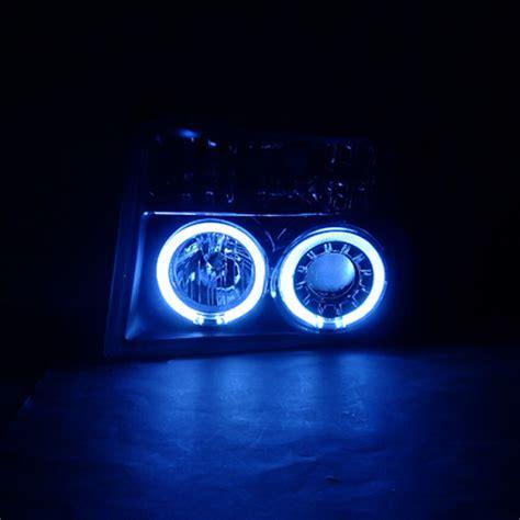ford halo lights 92 96 ford f150 dual halo eye projector headlights