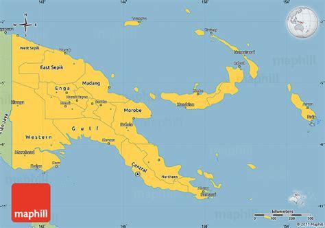 world map papua new guinea savanna style simple map of papua new guinea