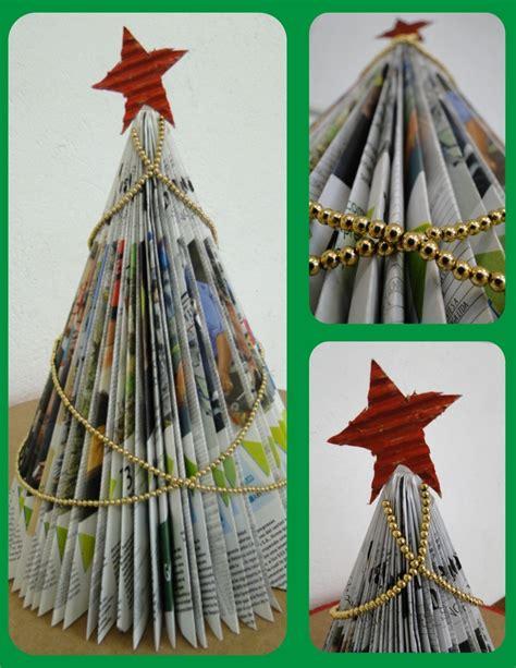 193 rbol de navidad elaborado con revista de papel peri 243 dico
