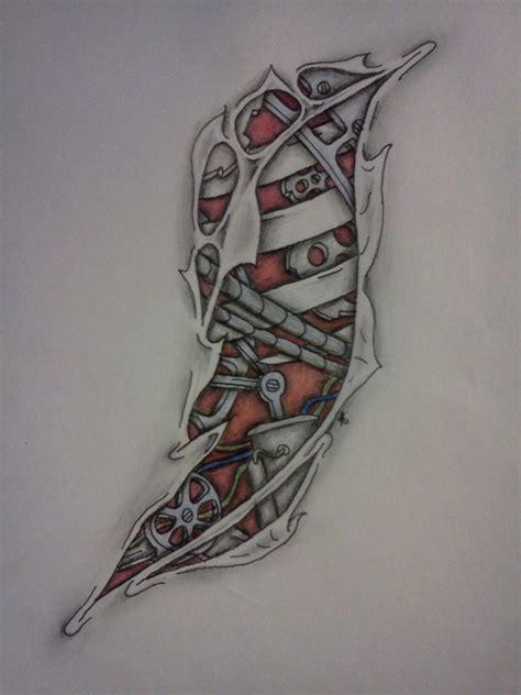design tattoo biomechanical warna awesome biomechanical tattoo design image jpg 774 215 1032