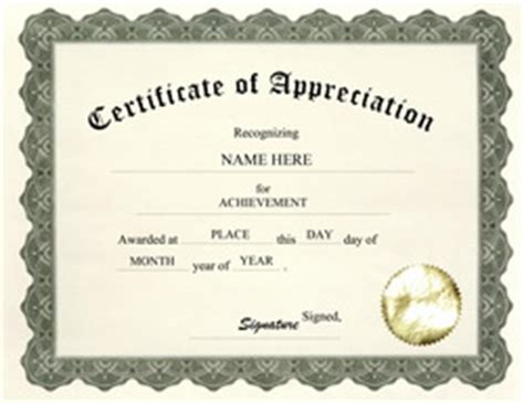 free certificate of appreciation templates free templates for business certificate templates