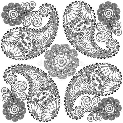 paisley doodle vector free paisley doodles black and white mandala coloring pages