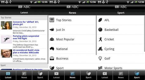 abc app for android abc finally updating its android app lifehacker australia