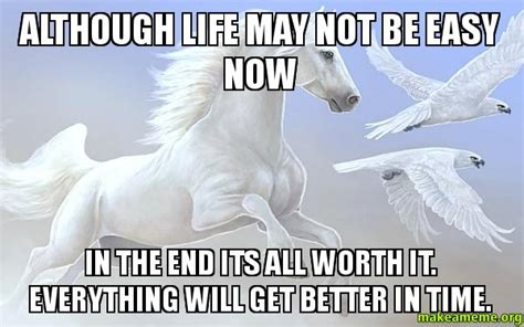 It Gets Better Meme - although life may not be easy now in the end its all worth