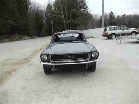 sell used 68 mustang fastback with 1967 and 1968 mustang fastback parts cars 3 cars 1price in