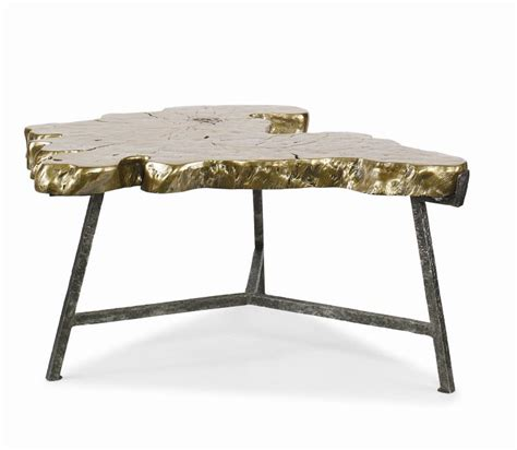 bronze finished cast slab coffee table mecox gardens