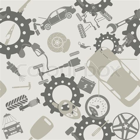 doodle graphic design services car service and some types of transportation background