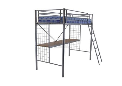 Metal Sleepers by Metal Beds Student Bunk 3ft 90cm Single Silver Metal