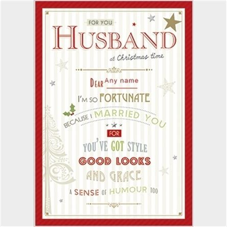 personalised christmas card merry christmas   husband gettingpersonalcouk