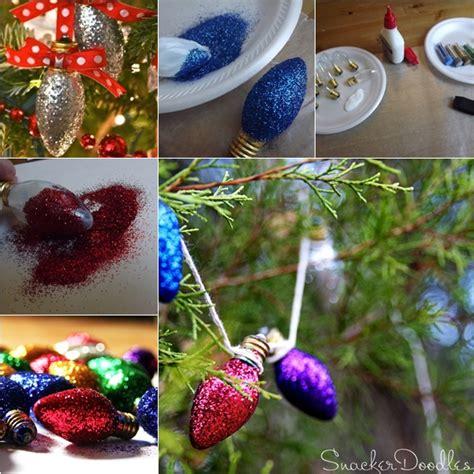 wonderful diy glitter light bulb ornaments for christmas