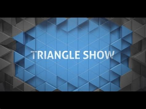 triangle pattern after effects triangle show package after effects project youtube