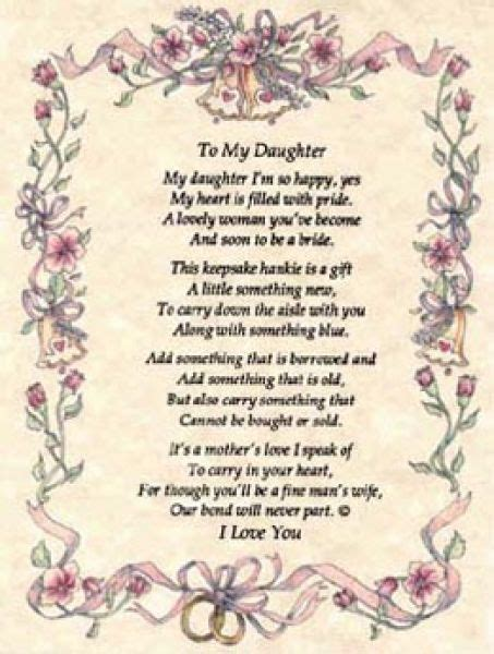 mother daughter quotes on her wedding day