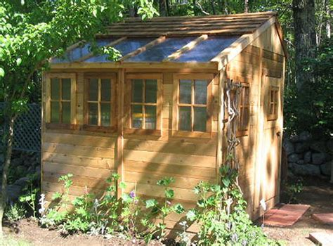 12 x 12 sunshed cedar garden shed and greenhouse ssgs1212