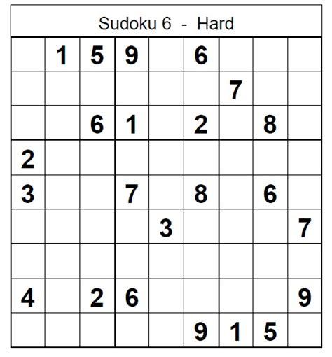 printable sudoku hard puzzles printable sudoku 6 related keywords printable sudoku 6