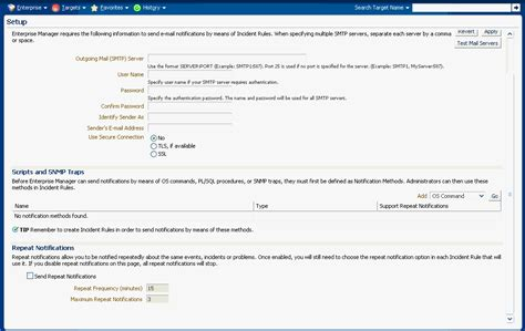 Using Notifications Server Maintenance Email Template