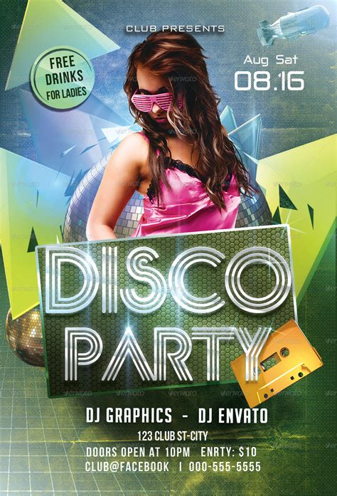 template flyer disco disco party flyer template by arrow3000 graphicriver