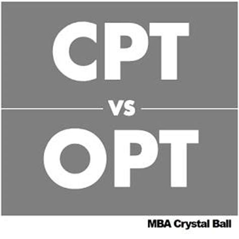 Mba Cpt by Cpt Vs Opt Differences For International Students In Usa