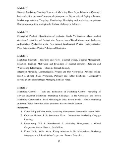 Net Syllabus For Mba Marketing by Mba Syllabus 2012