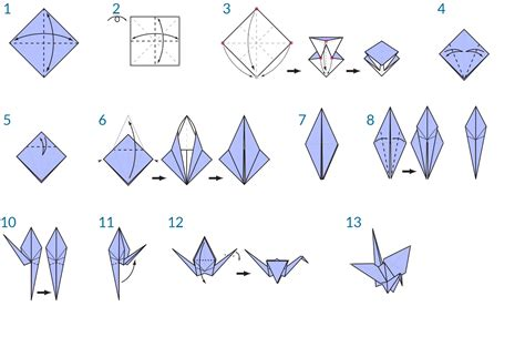 origami crane instructions crafts pinterest origami