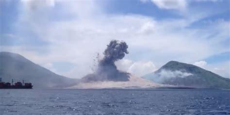 detik papua video amatir detik detik gunung meletus di papua dream co id
