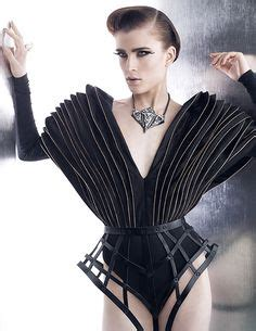 Sho Tresseme sculptural fashion avant garde dress futuristic