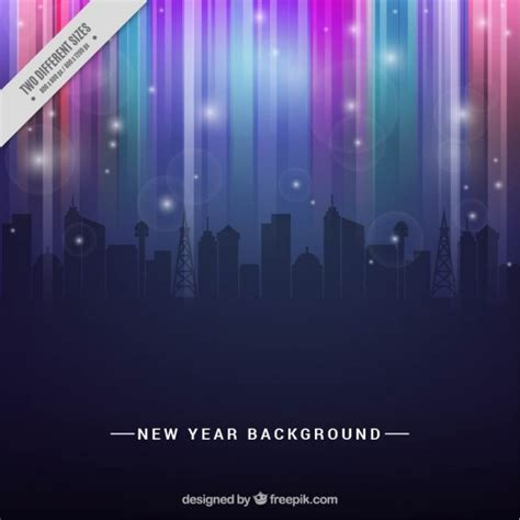 new year in city abstract city in new year background vector free