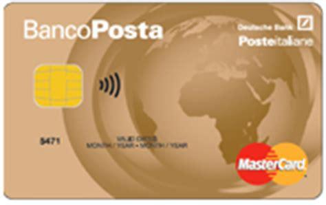 carta banco posta piu carte credito bancoposta carta bancoposta oro
