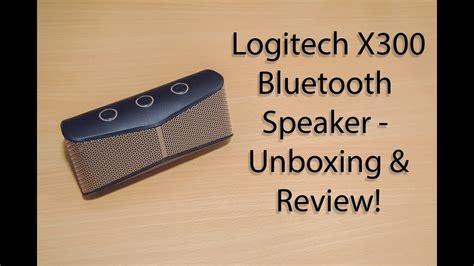 logitech x300 bluetooth speaker unboxing review