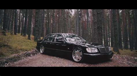 bagged mercedes s class bagged s klasse w140 layin in the forest