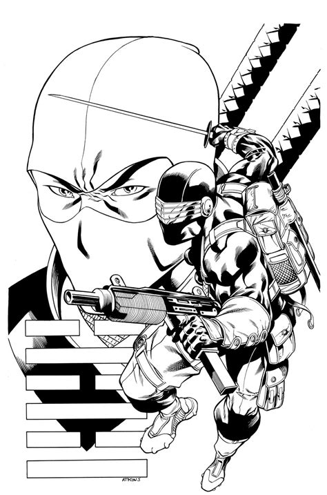 printable snake eyes free printable gi joe coloring pages for kids