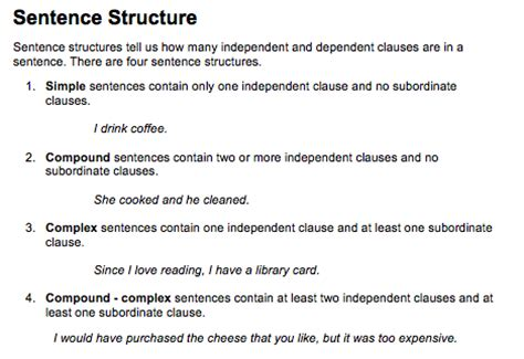 sentence structure image gallery sentence structure